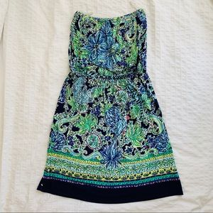 Lilly Pulitzer Strapless Printed Dress
